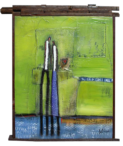 figurative art, stick figure, romantic couples, influenced by Alberto Giacometti, influenced by Richard Diebenkorn, abstract art, expressionism